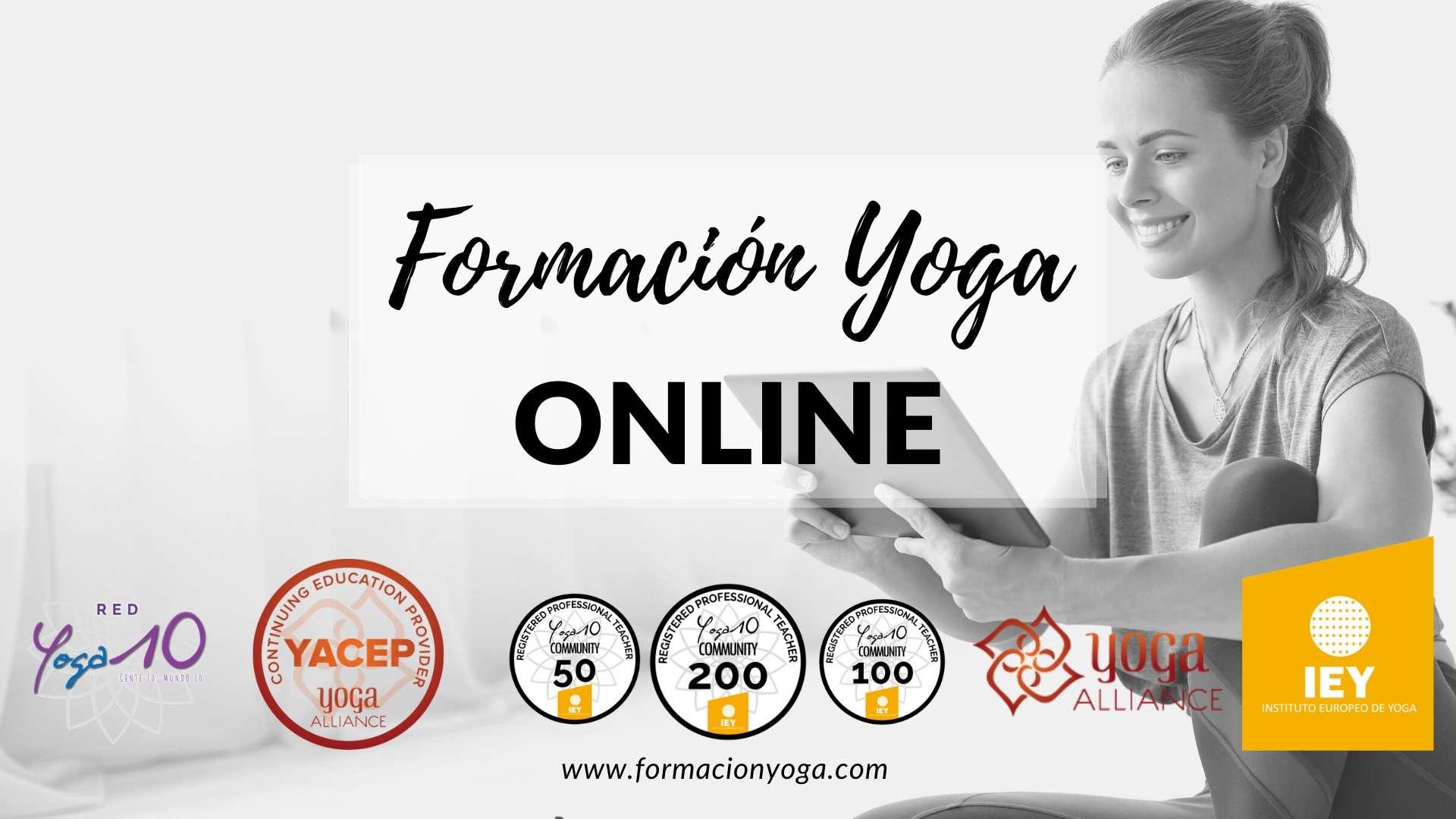 Banner Formación Yoga Online del Instituto Europeo de Yoga